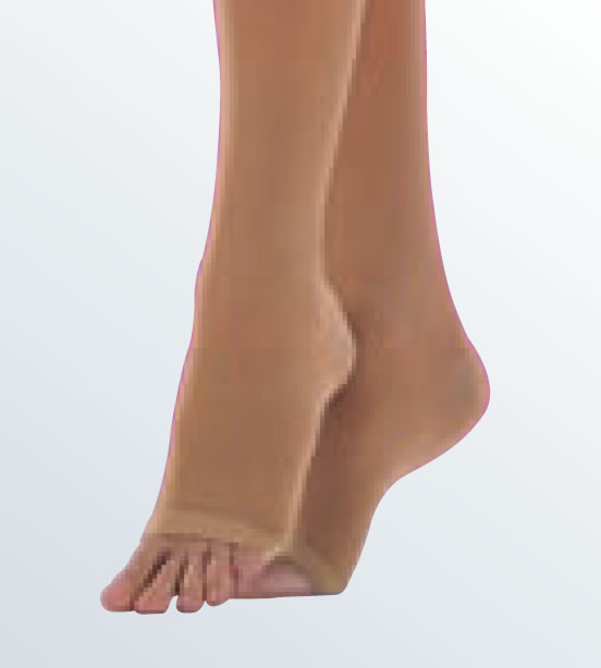 New Duomed® Soft Below Knee Stockings Open Toe. (Now available in black up to class 2).