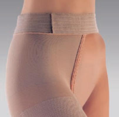 Sigvaris Traditional 500 Series Natural Rubber Thigh Length Stocking w/Waistband Open Toe RAL